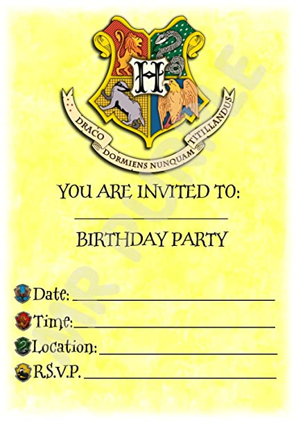 Harry Potter invitaciones de fiesta de cumpleaños - Hogwarts ...