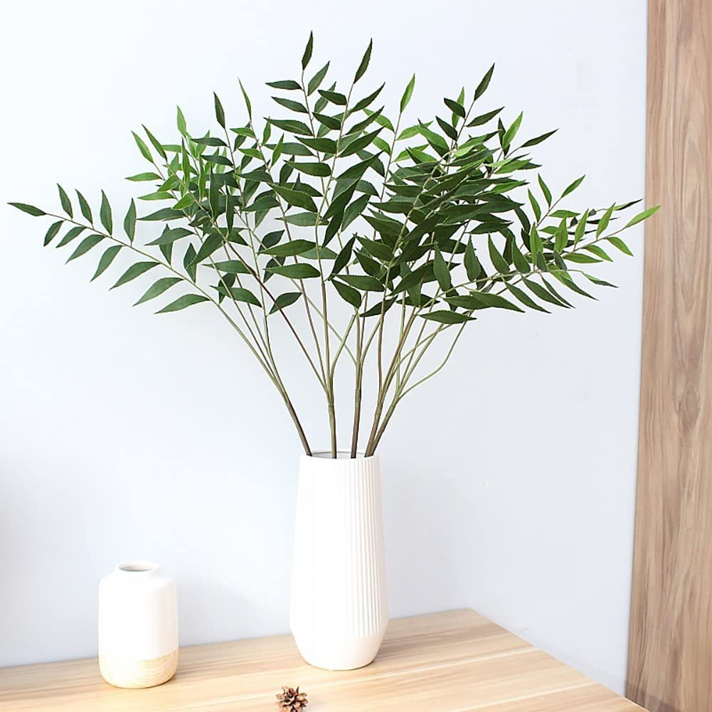 2pcs Warmter Artificial plantas 32/Eucalytus ramas verde artificial falso arbustos pl/ástico verde Plantas Decoraci/ón de Casa Oficina para interiores o exteriores