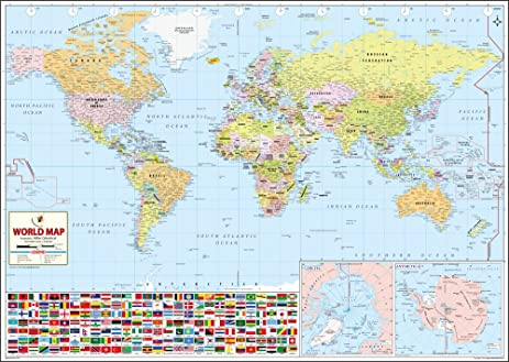 Amazon the worlds best world map 52 x 37 inches maps of the worlds best world map 52 x 37 inches gumiabroncs Choice Image