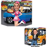 Car Hop/Greaser Photo Prop (1 side car hop; other side greaser) Party Accessory  (1 count) (1/Pkg)
