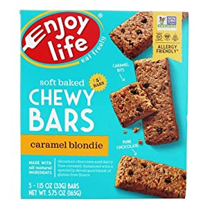 Enjoy Life Foods Baked Chewy Bars Caramel Blondie 5 Bars 1 15 oz 33 g Each