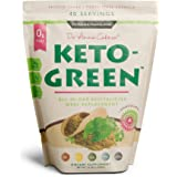 Keto Green Alkaline Protein Shake - Chocolate Ketogenic Protein Powder Drink, Lactose Free Vegan Protein, Supports Gastrointe