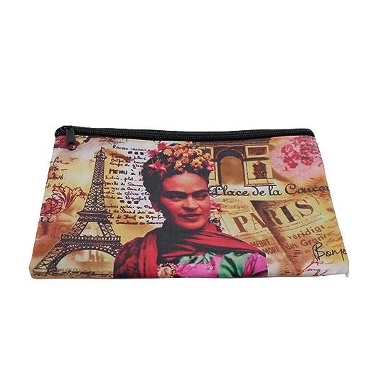 Cartera con diseño de Frida Kahlo. Monedero. Billetera ...