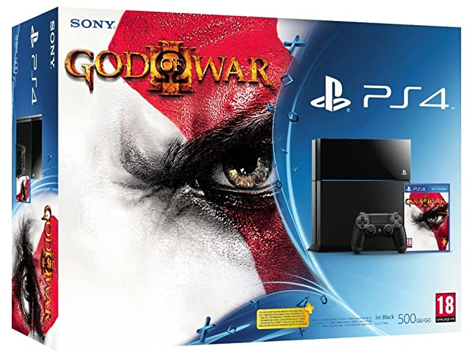 Sony PlayStation 4 500GB + God of War 3 500GB Wifi Negro ...