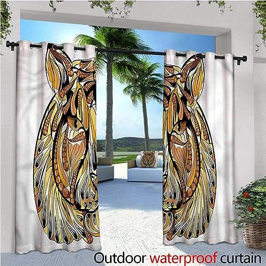 Cortina de privacidad para Exteriores de Tatuaje para pérgola Mandala Flechas Yoga, Termo Aislante, Repelente al Agua, para balcón: Amazon.es: Jardín