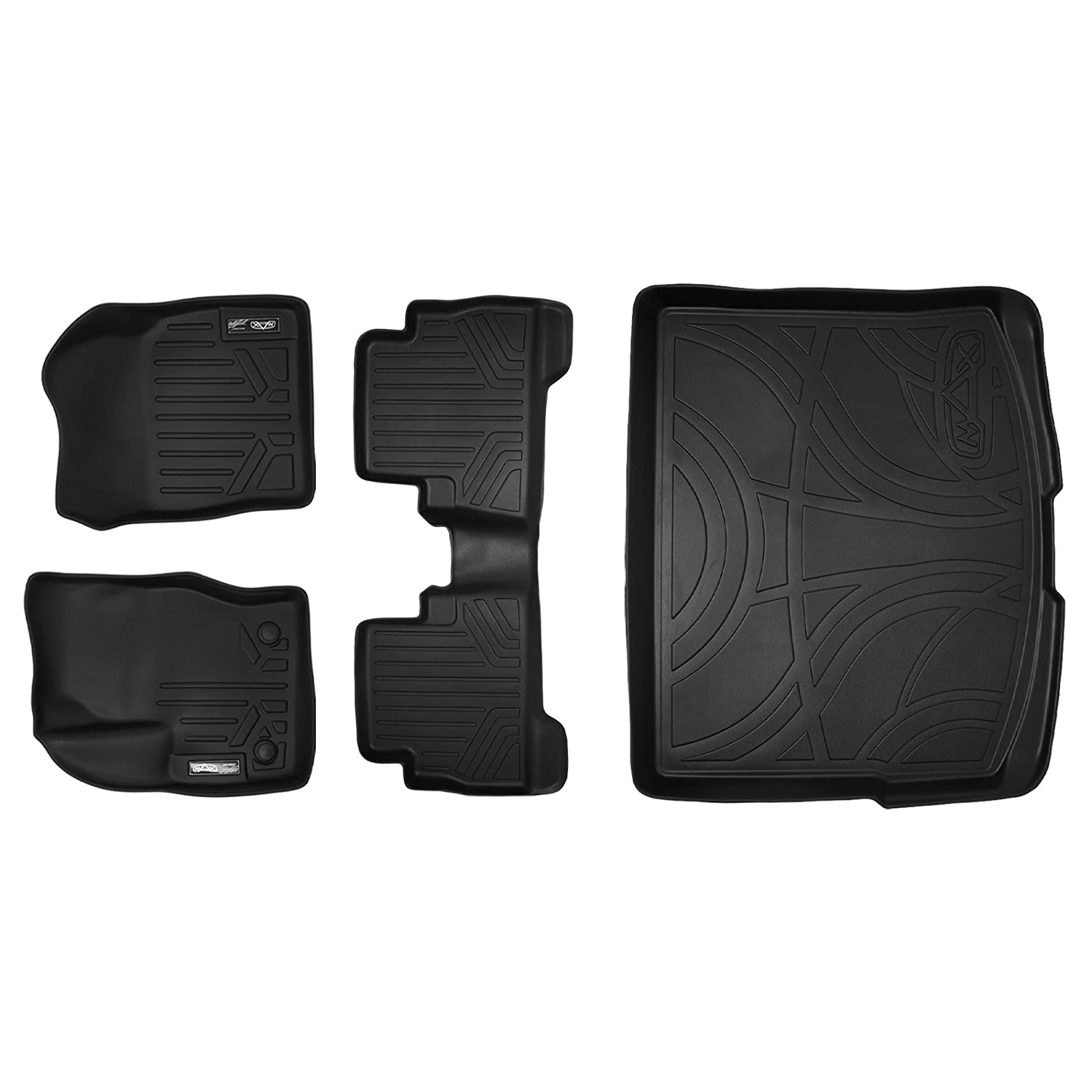 Amazon com maxfloormat floor mats and maxtray cargo liner for ford escape 2013 2017 complete set black automotive