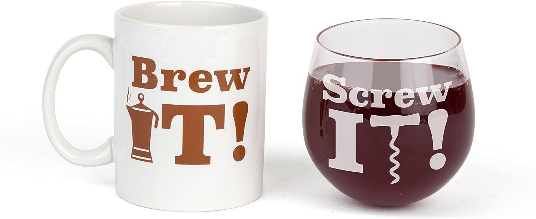 BigMouth Inc Brew It Screw It Drinkware Gift Set BMBG-0001