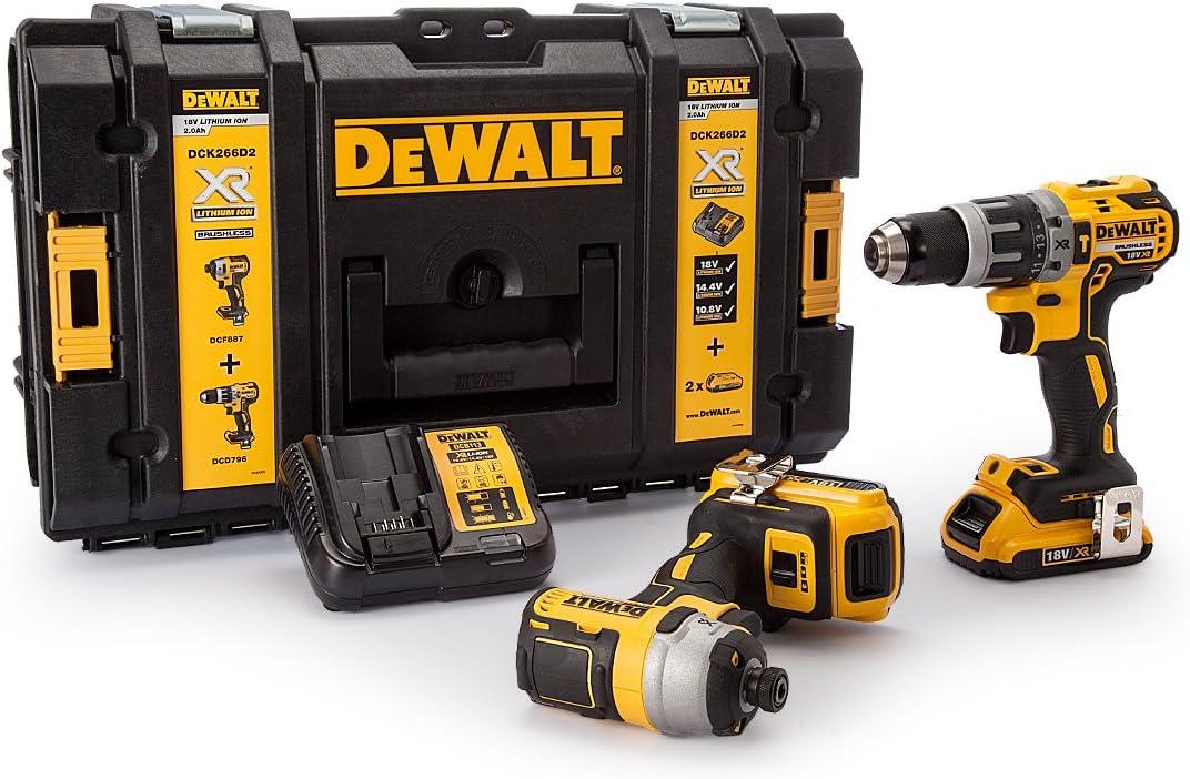 DEWALT DEWDCK266D2 DCK266D2 XR Brushless Twin Pack 18 Volt 2 x 2,0 Ah Li-Ion