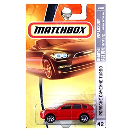 Amazon.com: Matchbox 2008 VIP Luxury Porsche Cayenne Turbo Red #42: Toys & Games
