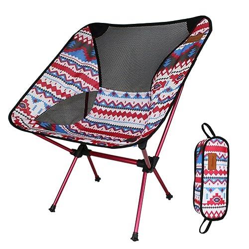 アウトドアチェア折りたたみ超軽量【耐荷重150kg】コンパクトイス椅子収納袋付属お釣り登山携帯便利キャンプ椅子(ピンク)