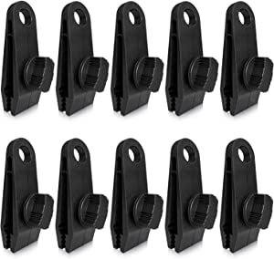 ZHSX 10pcs Tarp Clips, Heavy Duty Thumb Screw, Tarp Clamps Lock Grip Tent Clamps for Tarps, Awning, Supporting, Tarpaulins, Canopies, Sunshades, Car Cover, Boat Covers and Swimming Pool Cover