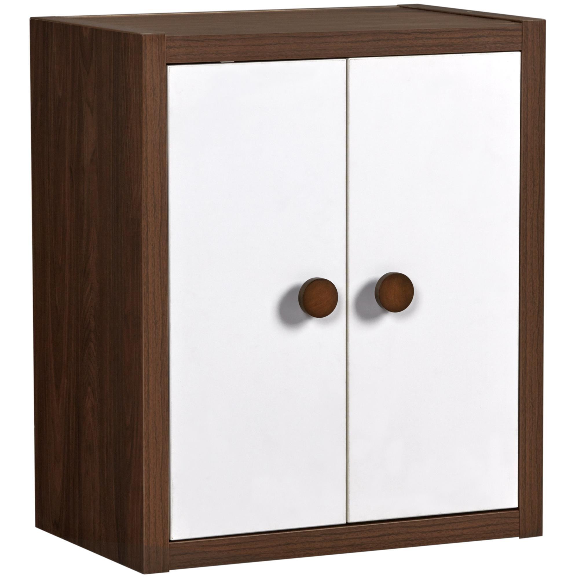 Little Seeds Sierra Ridge Terra Modular Bookcase with Doors, Walnut/White