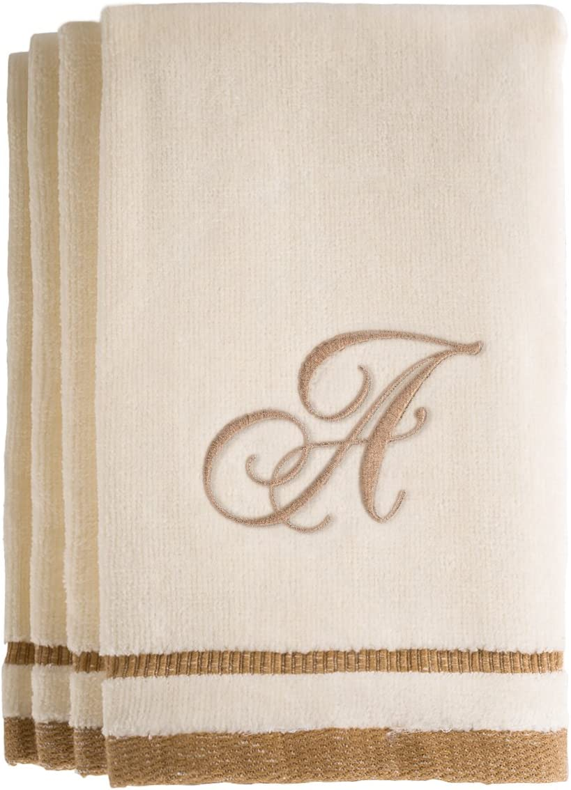 Creative Scents Monogrammed Fingertip Hand Towels