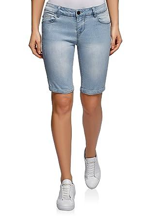 62210c9a3e oodji Ultra Femme Short Long en Jean: Amazon.fr: Vêtements et accessoires