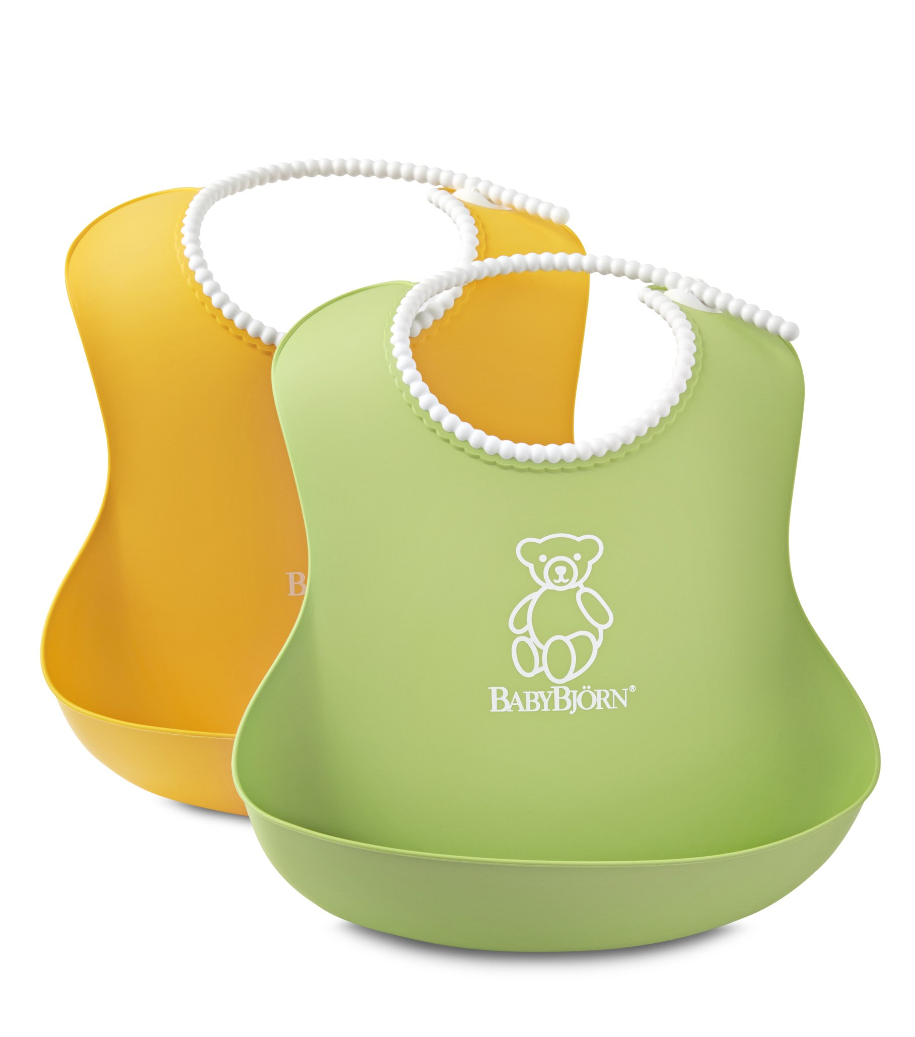 BABYBJORN Soft Bib - Green/Yellow 2 pack