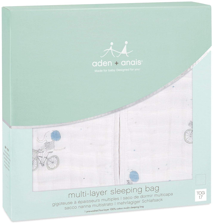 Amazon.com: aden + anais Multi-Layer Sleeping Bag - Night Sky Reverie - Elephants - 18-36m: Baby