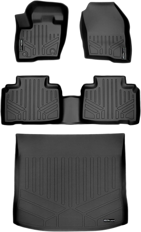 SMARTLINER Custom Fit Floor Mats 2 Row Liner Set Black for 2015-2019 Ford Edge