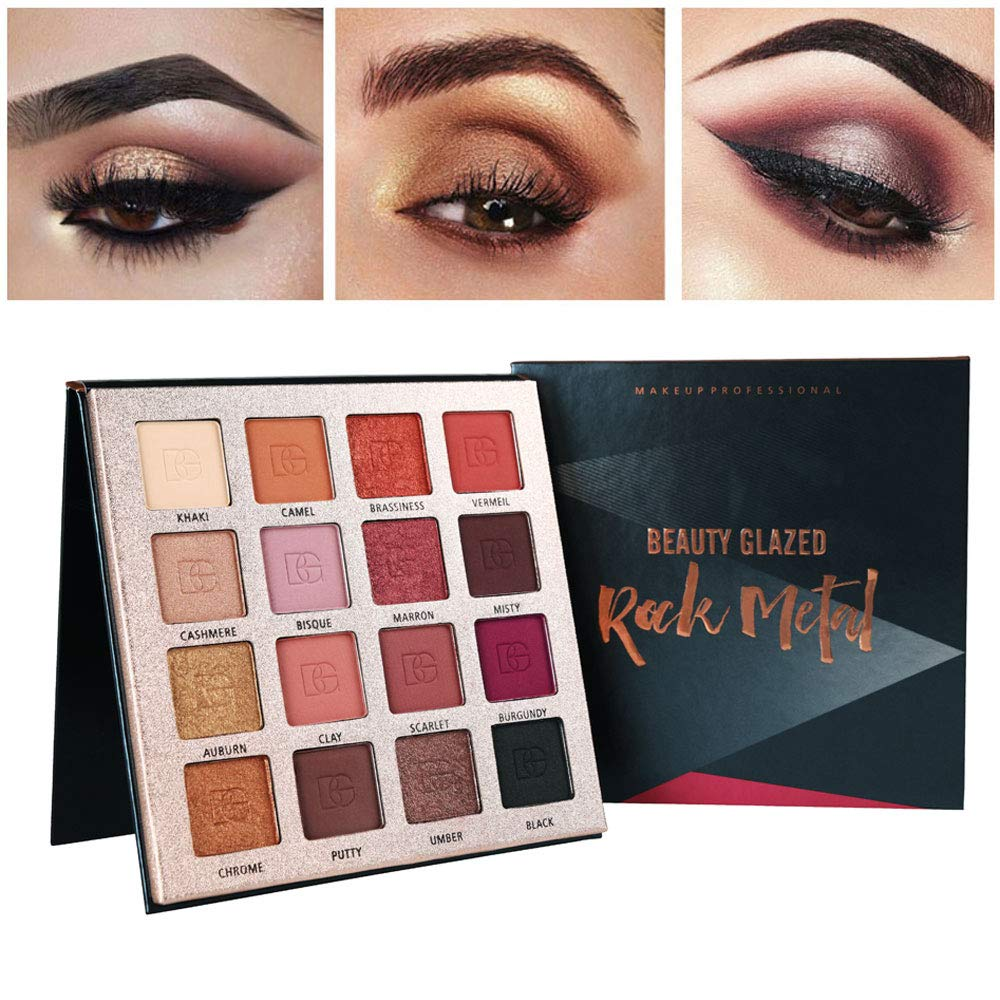 Beauty Glazed 2018 New Makeup Eyeshadow Palette Shimmer Matte Pigments 20 Colors Glitter Smokey Eye Shadows Make Up Powder Kit Carefully Selected Materials Back To Search Resultsbeauty & Health