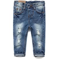 d2ec0ed737bdc Kidscool Baby & Toddler Elastic Waist Ripped Holes Soft Jeans
