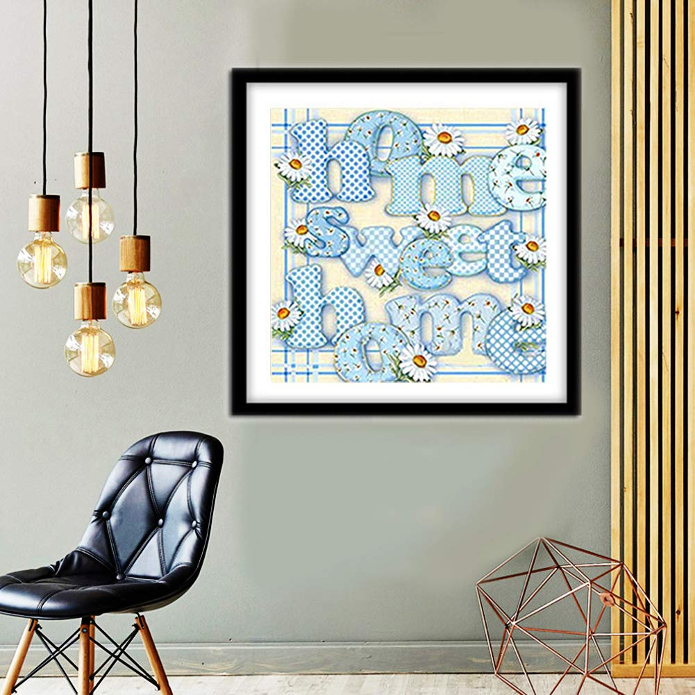 per interessi Adulti Lettera a casa Immagine Completa 30 x 30 cm Decorazione Regalo per Bambini Sunnay Diamond Painting Set Full