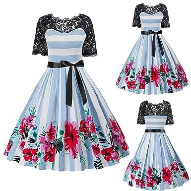 Vestido de cóctel vintage para mujer de los años 50, estilo ...
