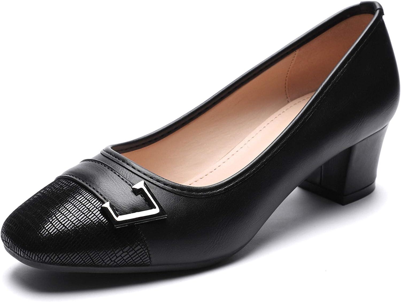 CINAK Women's Low Block Heels Dress