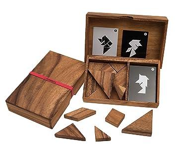Spiele Tangram aus Holz in hochwertiger Metallbox