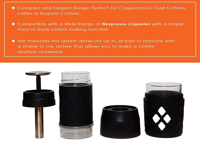 Cápsula de cafetera portátil - Mini máquina de café espresso ...