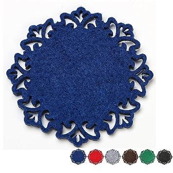 Dulce Cocina Posavasos de Fieltro Poliéster - Decoración del Hogar - 6 Piezas - Color Azul: Amazon.es: Hogar