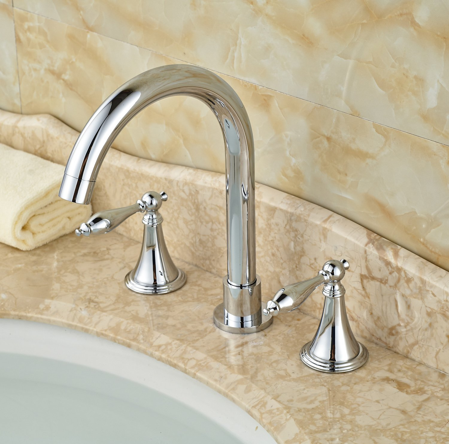 cost of bathroom sink rozin 174 handles widespread bathroom sink faucet 17967