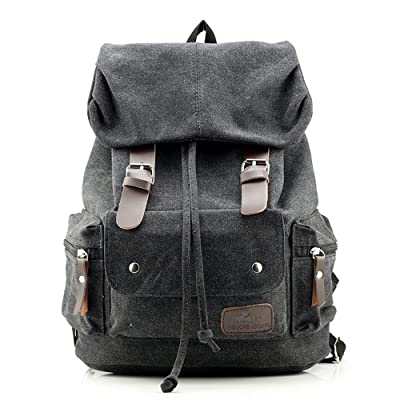 Neutral Canvas Backpack Outdoor Hiking Travel Rucksack