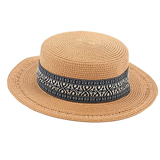 8dcb3a7c2 Sunyastor Panama Straw Hat, Women Sun Hats Summer Wide Brim Straw ...