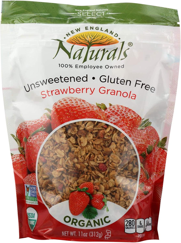 New England Naturals Granola,Og2,Strwbry,Unsw 11 Oz (Pack Of 6)