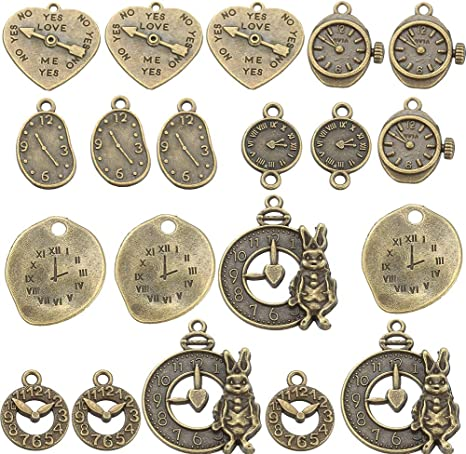 100PCS Mixed Style Antique Silver Round Shape 26 Alphabet English Letters Charm Pendant Bracelets Necklace Jewelry Findings Jewelry Making Craft DIY 15x12mm a-1078
