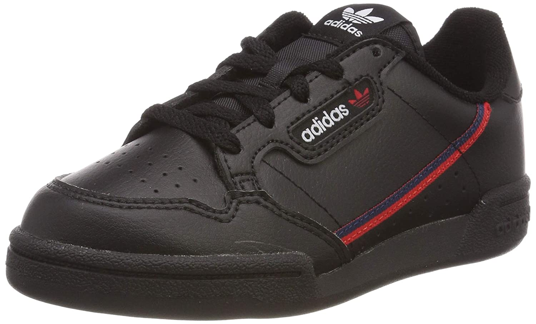 adidas Unisex-Kinder Continental 80 C Sneaker, Noir/Rouge foncÃ/bleu Marine