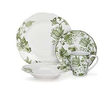 Cuisinart Loiret Collection 16-Piece Porcelain Dinnerware Set  sc 1 st  Amazon.com & Amazon.com | Cuisinart Loiret Collection 16-Piece Porcelain ...