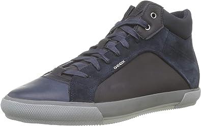 Correspondencia Desconocido Anestésico  Geox Men's U Kaven C Hi-Top Sneakers: Amazon.co.uk: Shoes & Bags