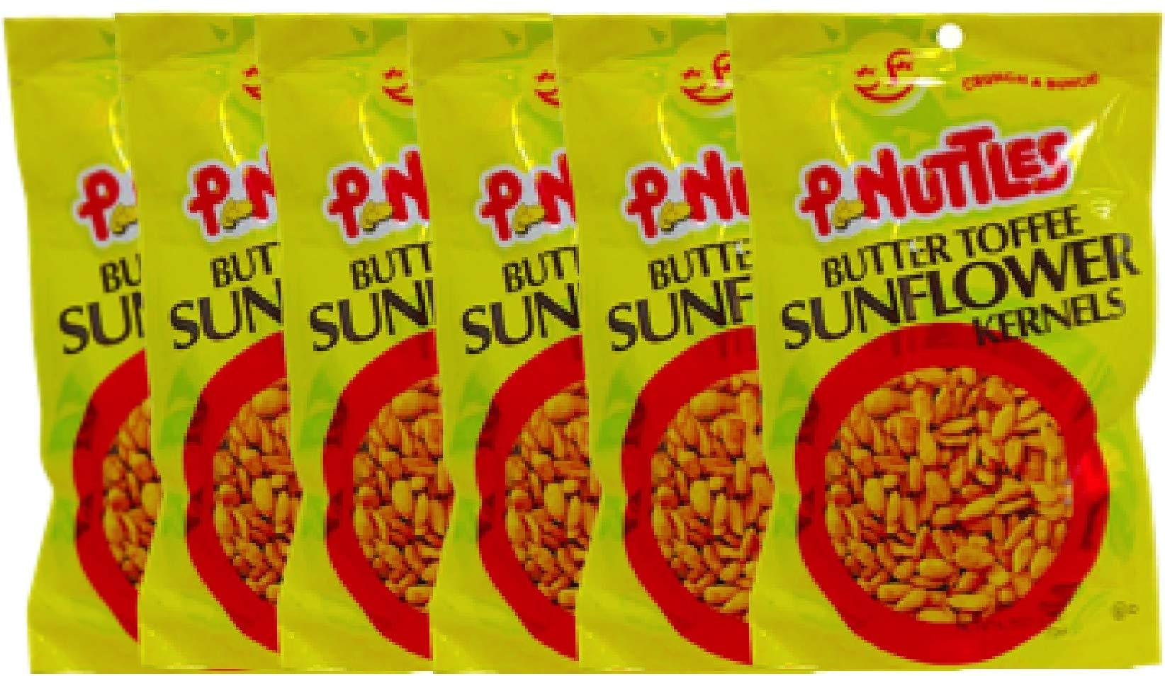 NEW Pnuttles Butter Toffee Sunflower Kernels Net Wt 4.5 Oz (6)