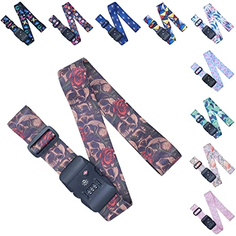 48e95cdfb4c5 Adjustable Luggage/Suitcase Straps/Belt Tsa Approved - Lockable Travel  Accessory - TSA Combination Locking - with Integrated TSA (Travel Sentry ...