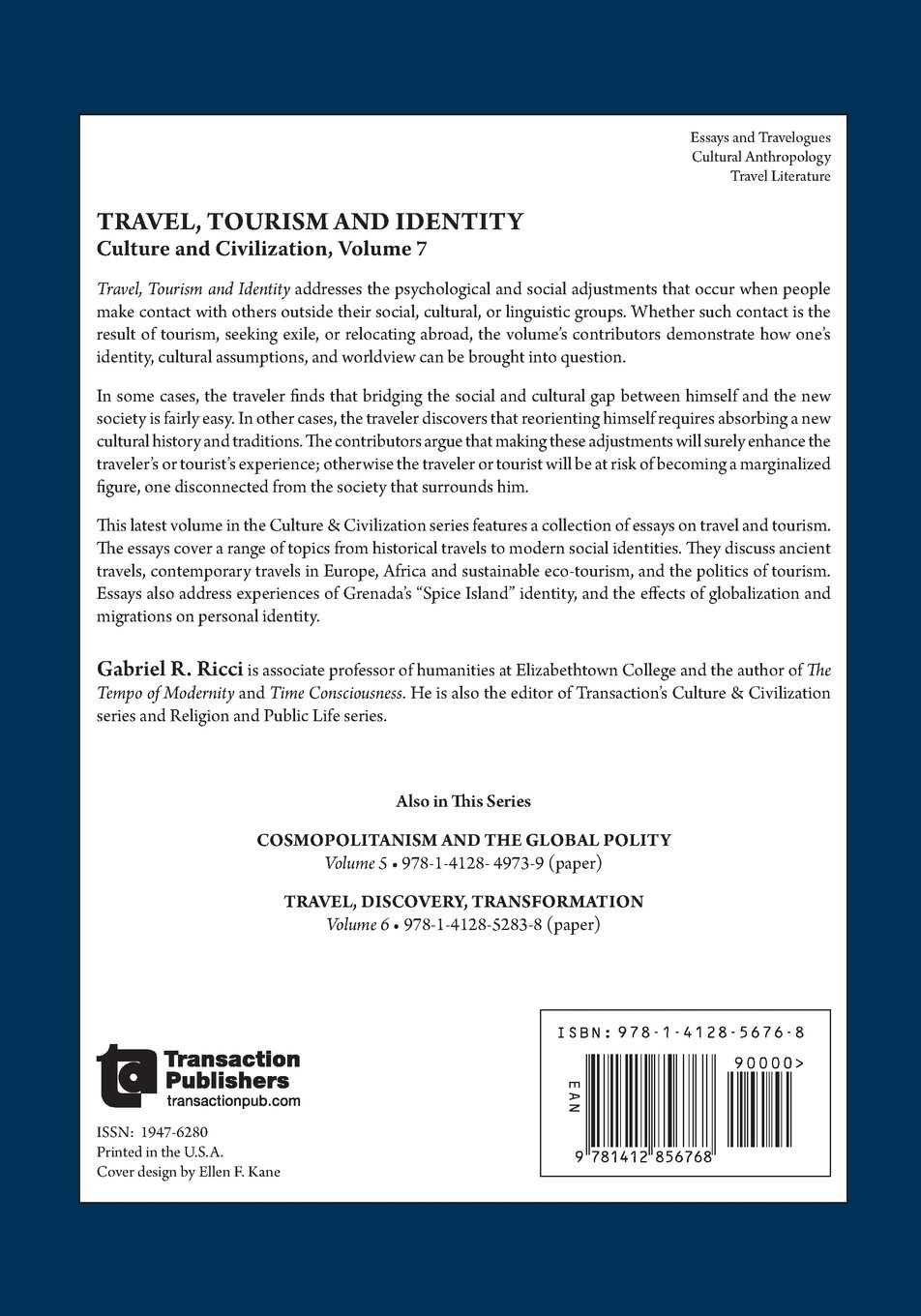 travel tourism and identity culture and civilization amazon travel tourism and identity culture and civilization amazon co uk gabriel r ricci 9781412856768 books