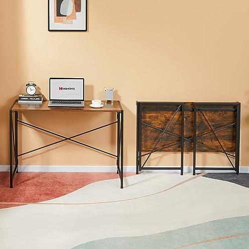 WOHOMO Folding Desk 39″ Small Desk