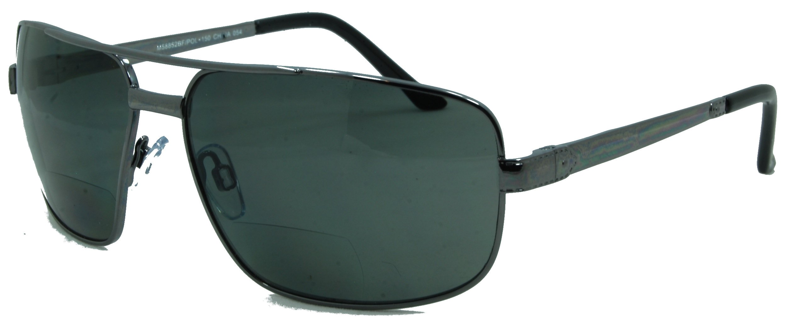 In Style Eyes Just Chillin Polarized Nearly Invisible Line Bifocal Sunglasses/Pewter/2.00 Strength by In Style Eyes