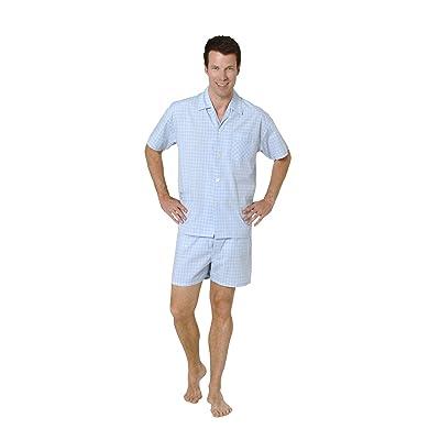 Noble Men's Pyjama Shorty Short Sleeve Checkered - Woven - 48835 at Men's Clothing store