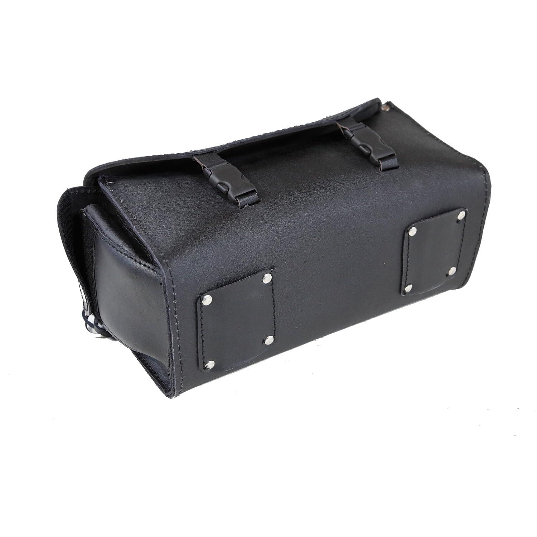 Leder Satteltasche 2-teilig Sissy-bar Tasche Rolle