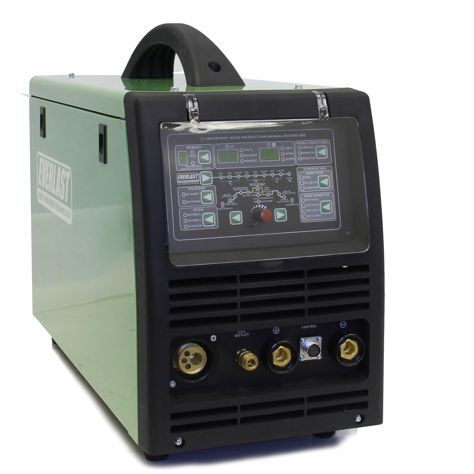 2017 Everlast PowerMTS 251Si Pulse MIG TIG Stick 250amp 110v/220v Multi Process Welder