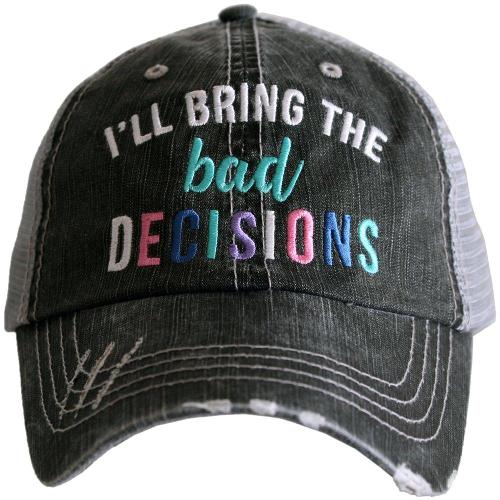 Katydid I'll Bring The Bad Decisions Multicolored Women's Trucker Hat