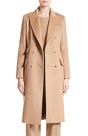 classcic 100% original professional website Amazon.com: Women's Long Wool/Cashmere Double Breasted Brown ...