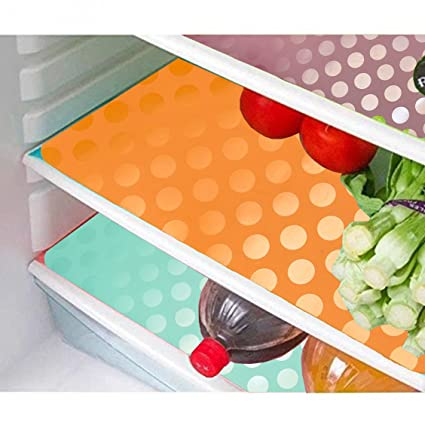 Kuber Industries PVC 6 Piece Fridge Mat Set - Multicolour