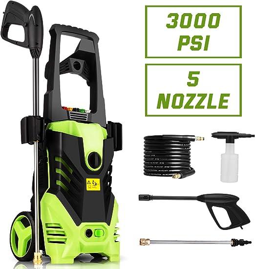 Homdox 3000 PSI Lavadora a presión eléctrica, 1800 W de Potencia ...