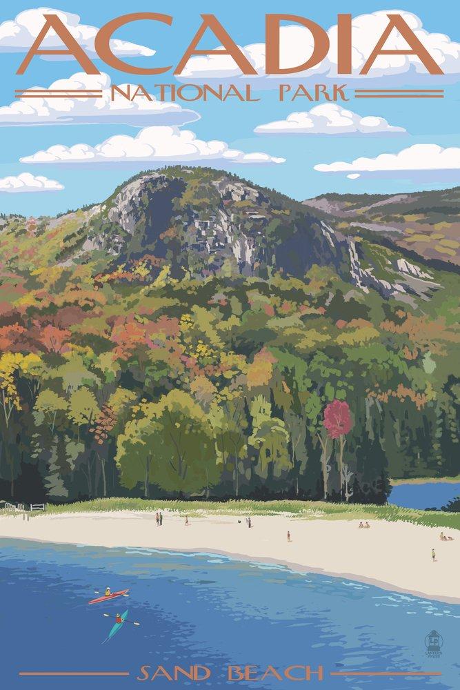 アカディア国立公園メイン州、 – Sandビーチシーン 16 x 24 Giclee Print LANT-40953-16x24 B00N5CX3H2 16 x 24 Giclee Print16 x 24 Giclee Print